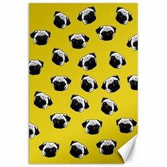 Pug dog pattern Canvas 20  x 30