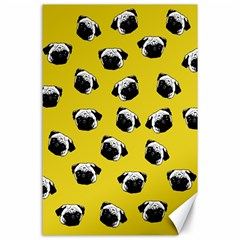 Pug dog pattern Canvas 24  x 36