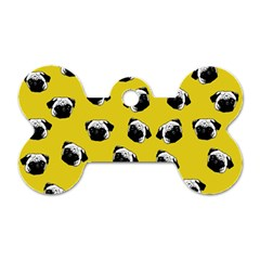 Pug dog pattern Dog Tag Bone (One Side)