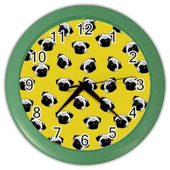 Pug dog pattern Color Wall Clocks