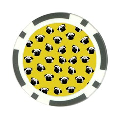 Pug dog pattern Poker Chip Card Guard