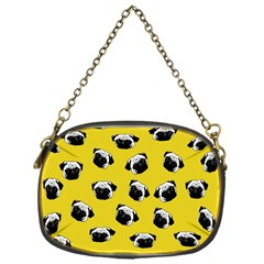 Pug dog pattern Chain Purses (One Side)