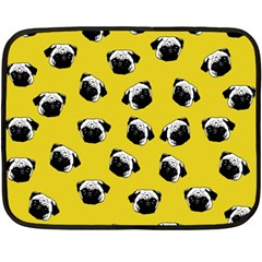 Pug dog pattern Fleece Blanket (Mini)