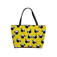 Pug dog pattern Shoulder Handbags