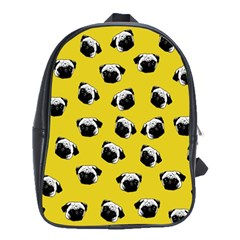 Pug dog pattern School Bags(Large)