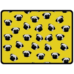 Pug dog pattern Fleece Blanket (Large)