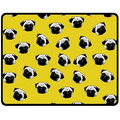 Pug dog pattern Fleece Blanket (Medium)