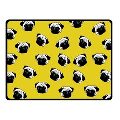 Pug dog pattern Fleece Blanket (Small)