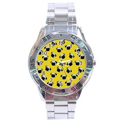 Pug dog pattern Stainless Steel Analogue Watch