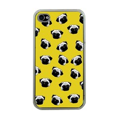 Pug dog pattern Apple iPhone 4 Case (Clear)