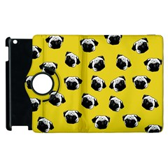 Pug dog pattern Apple iPad 2 Flip 360 Case