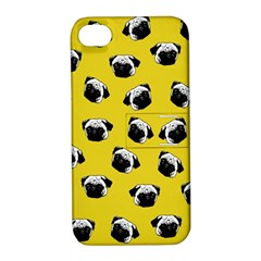 Pug dog pattern Apple iPhone 4/4S Hardshell Case with Stand