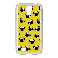 Pug dog pattern Samsung GALAXY S4 I9500/ I9505 Case (White)