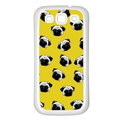 Pug dog pattern Samsung Galaxy S3 Back Case (White)