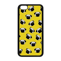 Pug dog pattern Apple iPhone 5C Seamless Case (Black)