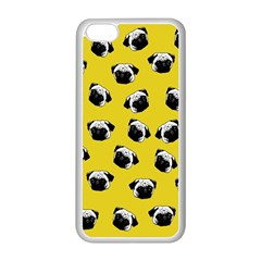 Pug dog pattern Apple iPhone 5C Seamless Case (White)