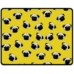 Pug dog pattern Double Sided Fleece Blanket (Medium)