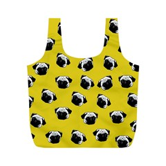 Pug dog pattern Full Print Recycle Bags (M)