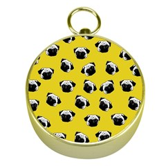 Pug dog pattern Gold Compasses