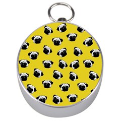 Pug dog pattern Silver Compasses