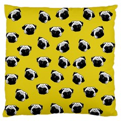 Pug dog pattern Large Flano Cushion Case (One Side)