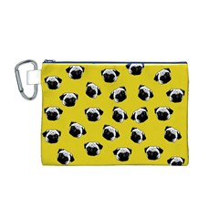Pug dog pattern Canvas Cosmetic Bag (M)