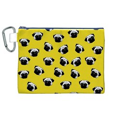Pug dog pattern Canvas Cosmetic Bag (XL)