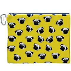 Pug dog pattern Canvas Cosmetic Bag (XXXL)