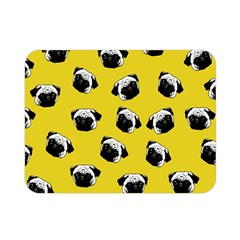 Pug dog pattern Double Sided Flano Blanket (Mini)