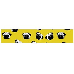 Pug dog pattern Flano Scarf (Large)