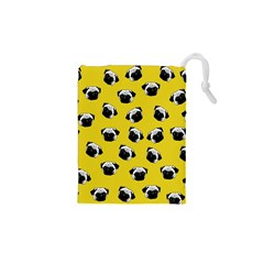 Pug dog pattern Drawstring Pouches (XS)
