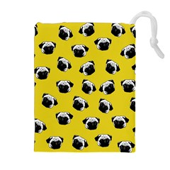 Pug dog pattern Drawstring Pouches (Extra Large)