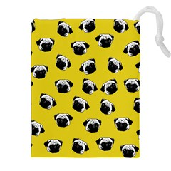 Pug dog pattern Drawstring Pouches (XXL)