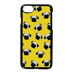 Pug dog pattern Apple iPhone 7 Seamless Case (Black)