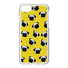 Pug dog pattern Apple iPhone 7 Seamless Case (White)