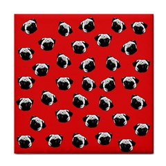 Pug dog pattern Tile Coasters