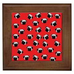 Pug dog pattern Framed Tiles