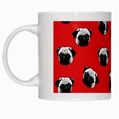Pug dog pattern White Mugs