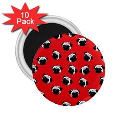 Pug dog pattern 2.25  Magnets (10 pack)