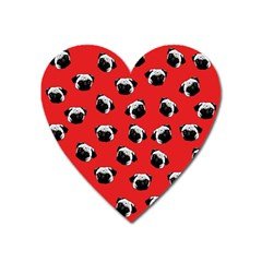 Pug dog pattern Heart Magnet