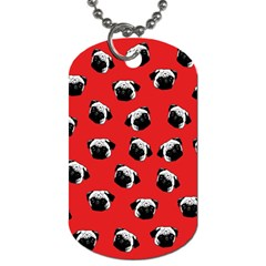 Pug dog pattern Dog Tag (One Side)
