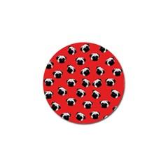 Pug dog pattern Golf Ball Marker (4 pack)
