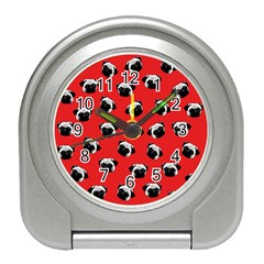 Pug dog pattern Travel Alarm Clocks