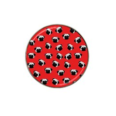 Pug dog pattern Hat Clip Ball Marker (4 pack)