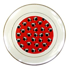 Pug dog pattern Porcelain Plates