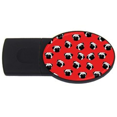 Pug dog pattern USB Flash Drive Oval (4 GB)