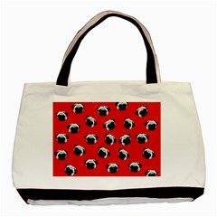 Pug dog pattern Basic Tote Bag