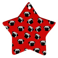 Pug dog pattern Star Ornament (Two Sides)