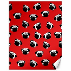 Pug dog pattern Canvas 12  x 16