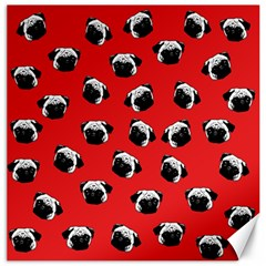 Pug dog pattern Canvas 16  x 16